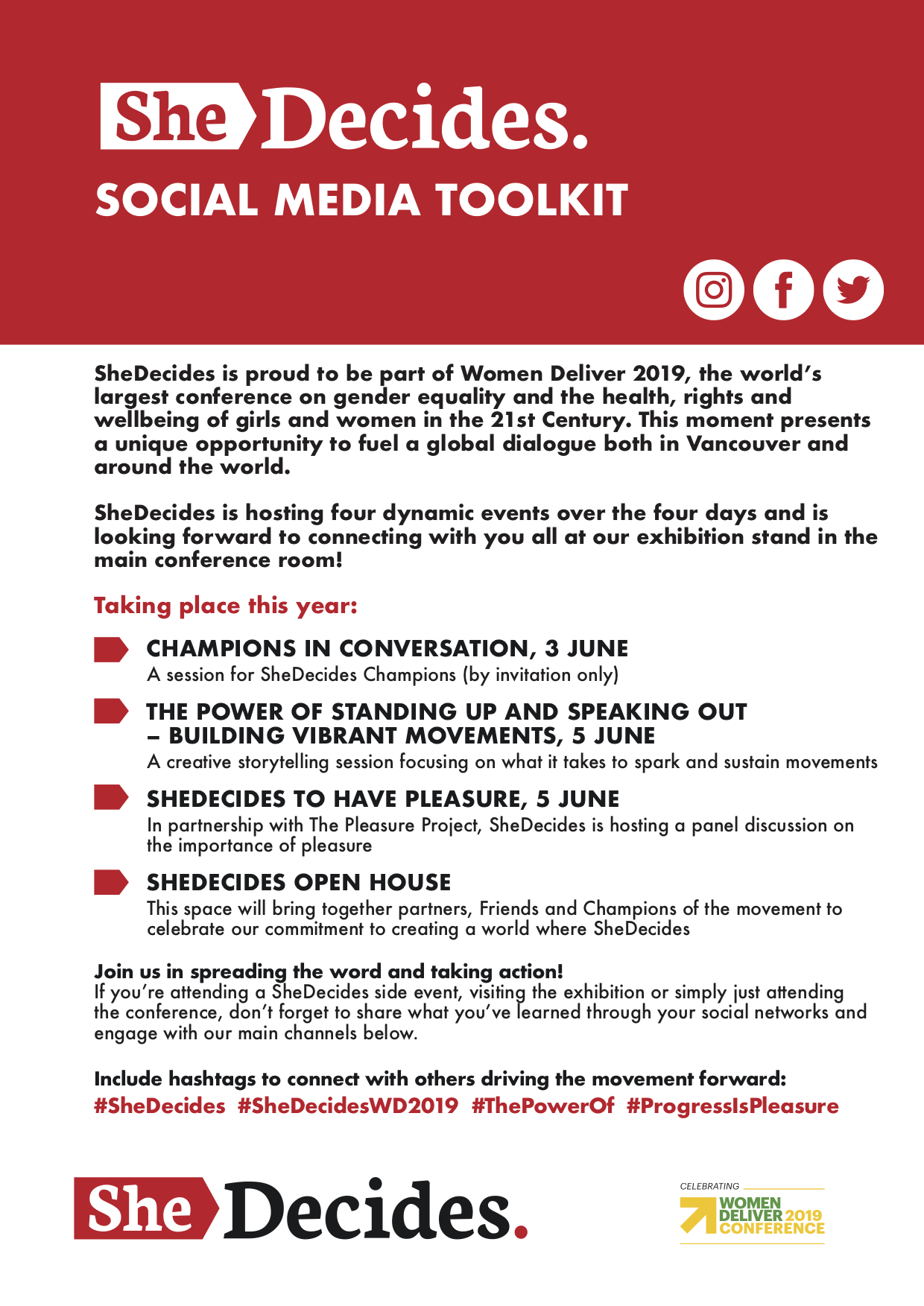 Your #SheDecidesWD2019 Social Media Toolkit is Here! | She
